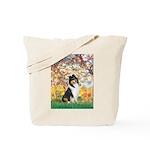 Spring / Collie Tote Bag