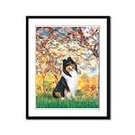 Spring / Collie Framed Panel Print