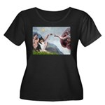 Creation / Collie Women's Plus Size Scoop Neck Dar