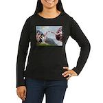 Creation / Collie Women's Long Sleeve Dark T-Shirt