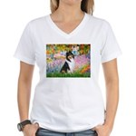Garden / Collie Women's V-Neck T-Shirt