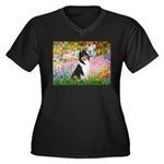 Garden / Collie Women's Plus Size V-Neck Dark T-Sh