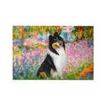 Garden / Collie Rectangle Magnet
