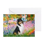 Garden / Collie Greeting Card