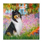 Garden / Collie Tile Coaster