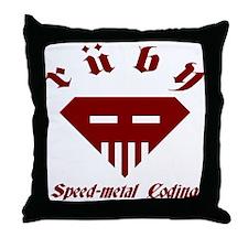 Speed-metal Ruby Throw Pillow