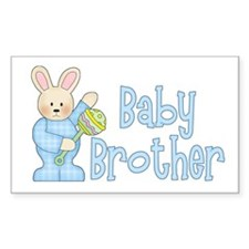 Bunny Baby Brother Rattle Rectangle Decal