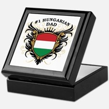 Number One Hungarian Dad Keepsake Box