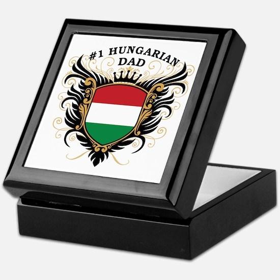 Number One Hungarian Dad Keepsake Box