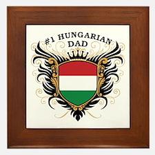 Number One Hungarian Dad Framed Tile