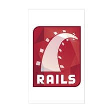 Ruby on Rails Rectangle Sticker