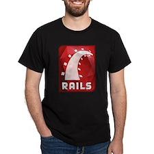 Ruby on Rails Black T-Shirt