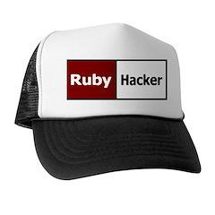 Ruby hacker Trucker Hat