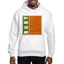 Use Ruby, be happy! Hooded Sweatshirt