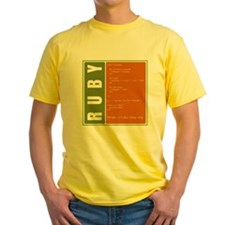 Use Ruby, be happy! Yellow T-Shirt