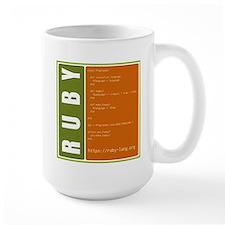 Use Ruby, be happy! Large Mug