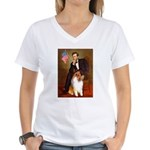 Lincoln / Collie Women's V-Neck T-Shirt