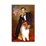 Lincoln / Collie Sticker (Rectangle)