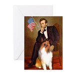 Lincoln / Collie Greeting Cards (Pk of 20)