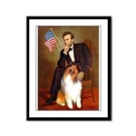 Lincoln / Collie Framed Panel Print