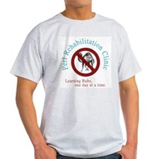 Perl Rehab Clinic Ash Grey T-Shirt
