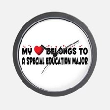 Belongs To A Special Education Major Wall Clock