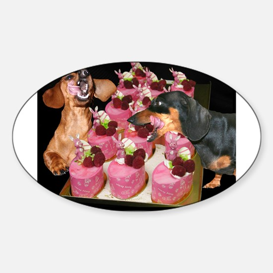 Easter Dogs Oval Decal