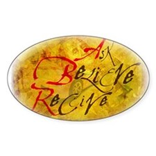 Ask, Believe, Receive Oval Decal