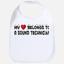 Belongs To A Sound Technician Bib