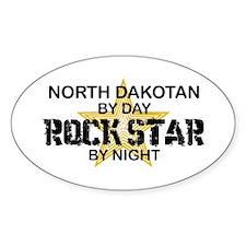 North Dakotan Rock Star Oval Decal