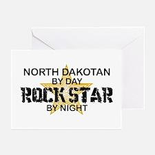 North Dakotan Rock Star Greeting Cards (Pk of 10)