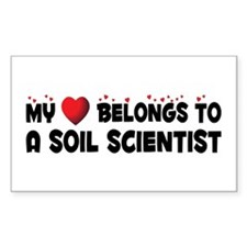 Belongs To A Soil Scientist Rectangle Decal