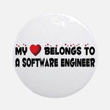 Belongs To A Software Engineer Ornament (Round)