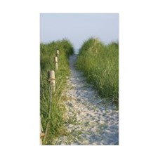 New England Coastal Dune Path Sticker (Rectangular