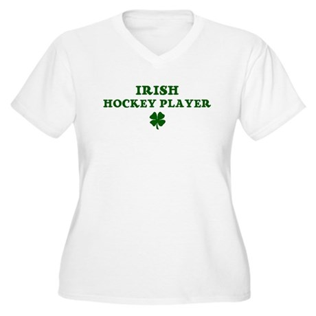 Hockey Player Women's Plus Size V-Neck T-Shirt