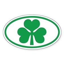Shamrock Oval Oval Decal
