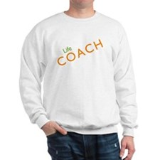 Life Coach: Orange Sweatshirt