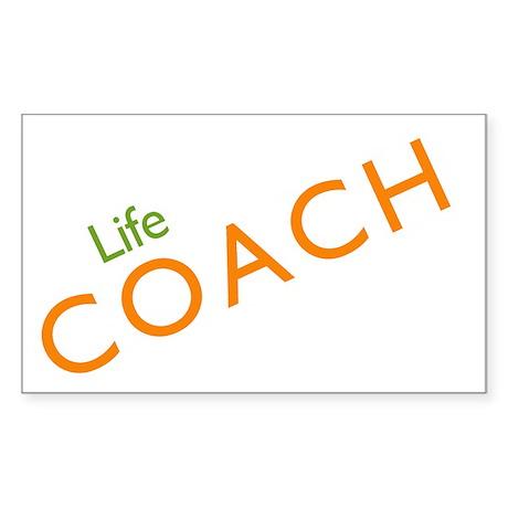 Life Coach: Orange Rectangle Sticker