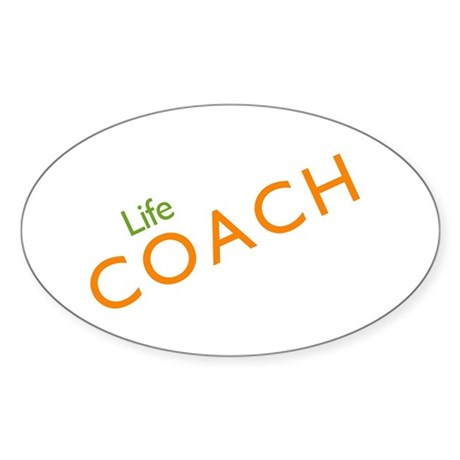Life Coach: Orange Oval Sticker