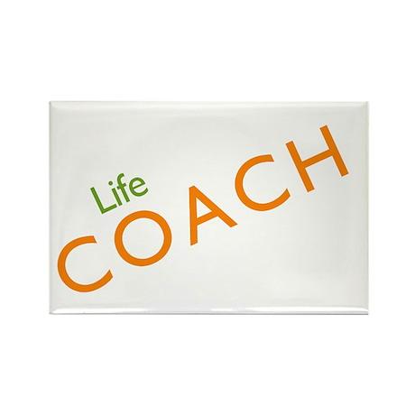 Life Coach: Orange Rectangle Magnet