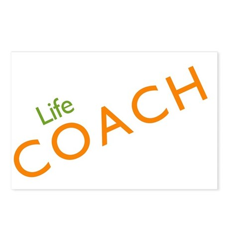 Life Coach: Orange Postcards (Package of 8)