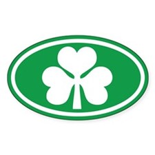 Shamrock Oval Oval Bumper Stickers