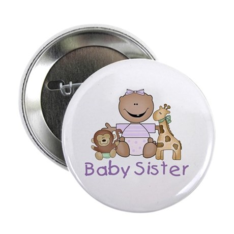 """Critter Friends Baby Sister (AF) 2.25"""" Button (10"""