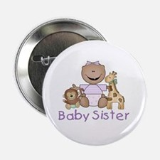 "Critter Friends Baby Sister (AF) 2.25"" Button"
