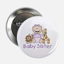 "Critter Friends Baby Sister 2.25"" Button"