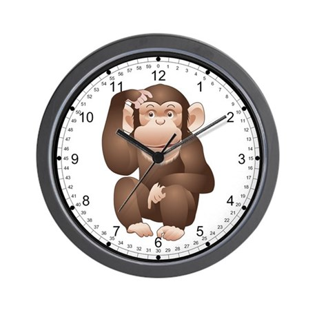 Curious Monkey Wall Clock