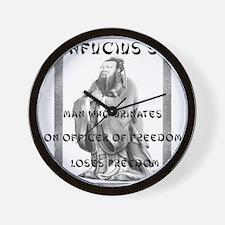 Freedom Confucius Wall Clock