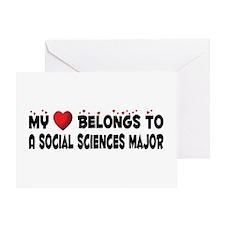Belongs To A Social Sciences Major Greeting Card
