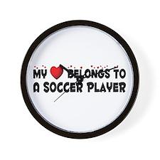 Belongs To A Soccer Player Wall Clock