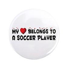 "Belongs To A Soccer Player 3.5"" Button (100 p"
